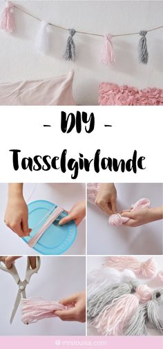 DIY Tassel-Girlande aus Wolle