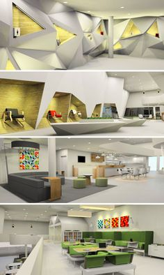 awesome AAU Students Envision What a Design Milk Office Might Look Like Commercial Interior Design, Commercial Interiors, Arch Interior, Interior Decorating, Office Space Design, Corporate Interiors, Futuristic Design, Furniture Design, Diy Furniture