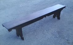 Bench 7 ft. long from old wood, kind of Victorian/Dutch..