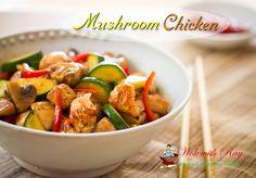 Mushroom  Chicken  w/  veg