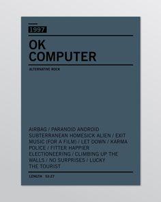 Radiohead discography minimal poster, Giuseppe Fierro.