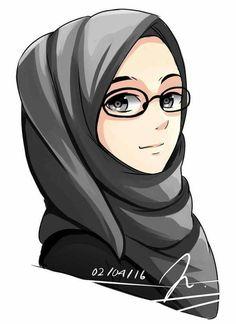 Assalamualaikumww hijab drawing, 2019 wanita, kartun ve hija Girl Cartoon, Cute Cartoon, Cartoon Art, Hijab Drawing, Image Citation, Islamic Cartoon, Hijab Cartoon, Beautiful Muslim Women, Islamic Girl