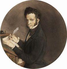 Portrait of A. Pushkin by Konstantin Somov (1899)