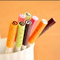 Kawaii Sweet Candy Gel Pen comes in 4 variations and write impeccably. They are super fine point, look delicious on the outside and will be a great addition to your collection. So cute and adorable, t