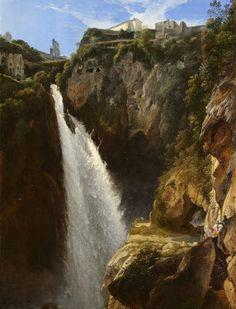 Johann Martin von Rhoden (1778-1868) - La cascata di Tivoli - 1825 - Arp Museum Rolandseck Bahnhof (Germania), collezione Rau per l'UNICEF .
