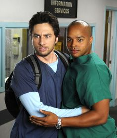 Zach Braff  Donald Faison (J.D.  Turk on Scrubs)