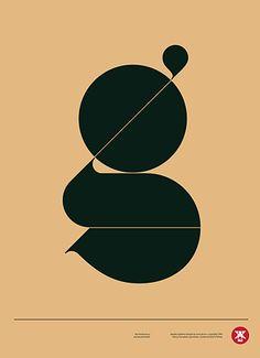 Typographic poster design by Aron Jansco Bts Design Graphique, Art Graphique, Web Design, Type Design, G Logo Design, Typography Letters, Graphic Design Typography, Japanese Typography, Japanese Logo