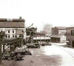 1915 - Pátio do Gasômetro no bairro do Brás.