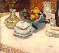 Bonnard Pierre - Still-life with cat c1924