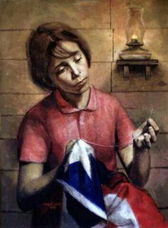 SEWING THE PUERTO RICAN FLAG