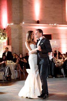 Wedding Couple's First Dance | Photography: Bob & Dawn Davis Photography. Read More: http://www.insideweddings.com/weddings/million-dollar-listing-miami-star-chad-carrolls-cleveland-wedding/732/