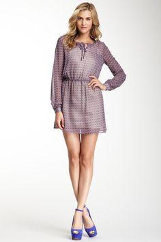 Tie Neck Print Dress by Romeo & Juliet Couture on @HauteLook