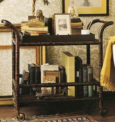 tea cart as book trolley : )