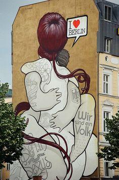 Berlin Eastside Gallery Urban Street Art, Best Street Art, Urban Art, Berlin Graffiti, Street Art Graffiti, Art Intervention, Urbane Kunst, East Side Gallery, Collage Illustration