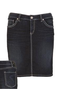 Silver Jeans Co.® Dark Denim Skirt - maurices.com