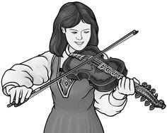 [ hardingfele ] bowed string instrument. grayscale images.