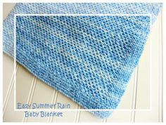 Easy summer rain baby blanket