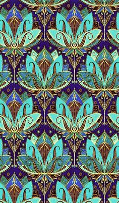 Discover recipes, home ideas, style inspiration and other ideas to try. Motifs Textiles, Textile Patterns, Indian Patterns, Art Deco Pattern, Pattern Design, Wallpaper Indian, Molduras Vintage, Art Nouveau Design, Islamic Art
