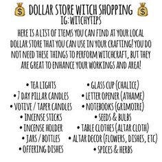 green witchcraft You dont need a metaphysical or witch store around to get witchcraft materials! Most items are at the end of your fingertips! Remember: YOU are the conductor of magi Witch Spell Book, Witchcraft Spell Books, Green Witchcraft, Spells For Beginners, Witchcraft For Beginners, Wiccan Magic, Wiccan Witch, Witch Store, Grimoire Book