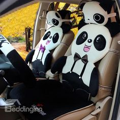 Joyous Lovely Panda Shape Ultra Soft And Comfortable Car Seat Cover