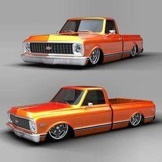 64 ideas pick up truck art chevy Chevy C10, 67 72 Chevy Truck, Custom Chevy Trucks, Classic Chevy Trucks, Chevy Pickups, Chevrolet Trucks, Pickup Trucks, Gm Trucks, Diesel Trucks