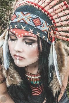 Portfolio, Make-Up-Artist-Hairstylist, Helmie van Native American Makeup, Native American Face Paint, Native American Tattoos, Native American Paintings, Native Indian, Native Art, Indian Art, American Indian Girl, Native American Girls