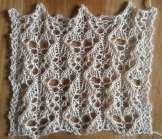 Frost: a free lace knitting stitch, thanks to my Patreon backers.