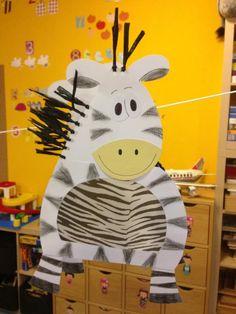 Zebra Crafts To Do, Crafts For Kids, Teaching Art, Art Lessons, Bunt, Art For Kids, Safari, Kindergarten, Preschool