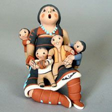 Mary Lucero  Native American / Indian Storytellers, Rain Gods and Figurative Pueblo Pottery from the Southwest - Pueblo Pottery Maine