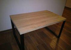 Stolik kawowy stół industrialny loft blat dębowy PROMOCJA!