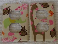 Carters Jungle Jill - outlet cover set of two on Etsy, $8.95