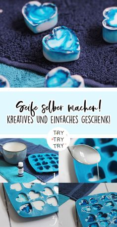 A nice gift idea: make soap yourself! - A nice gift idea: make soap yourself! making gift idea Informations About Ein - Diy Gifts, Best Gifts, Deodorant, Make Your Own, How To Make, Diy Crafts To Sell, E Design, Soap Making, Diy Beauty