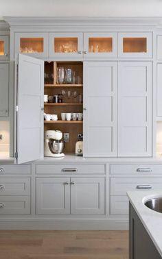 Wall storage kitchen