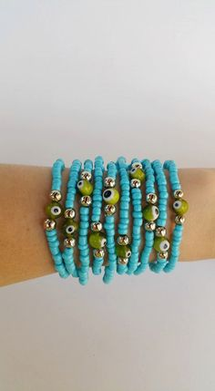 Check out this item in my Etsy shop https://www.etsy.com/pt/listing/453343548/evil-eye-jewelry-stacking-bracelets