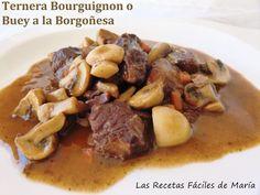 La receta de Ternera Bourguignon o Buey a la Borgoña un guiso tradicional de la cocina francesa, es deliciosa, la tienes en vídeo si prefieres.
