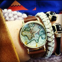 Watch with a map in it, love it!
