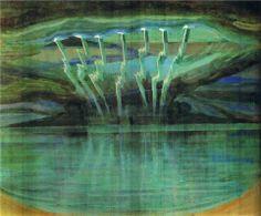 Mikalojus Ciurlionis, Lightning, 1909