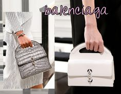 Love these structured little bags from Balenciaga Fall 2013 Collection