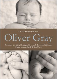 Shutterfly - Modern Introduction Boy Birth Announcement by Blonde Designs - from 2.47
