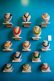 "Idea for displaying my necklaces (from: ""In Toronto, a Second Act"" - NYTimes.com)"