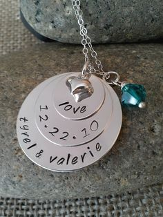 Personalized Hand Stamped Silver Wedding by StampedEvermore,