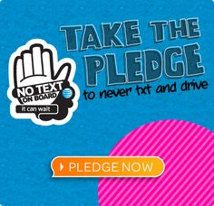 AT&T is asking everyone to pledge to stop texting while driving. It Can Wait. No Text is Worth It. Take the pledge! Texting While Driving, Distracted Driving, Driving School, Dont Text And Drive, It Can Wait, Teen Driver, Little Island, Injury Prevention, Have Time