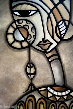 Art 'Cubist 139 2436 GW Original Cubist Art Identity Crisis' - by Thomas C. Fedro from Cubist Cubist Paintings, Cubist Art, Pop Art Face, Tableau Pop Art, Abstract Face Art, Afrique Art, Art Tribal, Urbane Kunst, Creation Art