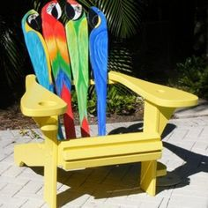 Find and save ideas about Adirondack chair plans. See more ideas about Adirondack chairs, Pallet chairs and Diy projects chairs. Hand Painted Furniture, Funky Furniture, Repurposed Furniture, Rustic Furniture, Outdoor Furniture, Furniture Design, Furniture Upholstery, Antique Furniture, Office Furniture