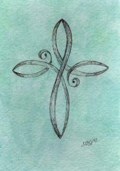 Infinity fleur de lis tattoo