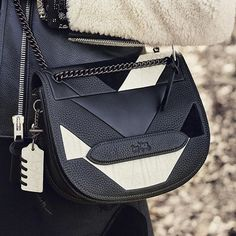 Leather + patchwork = the Shadow Crossbody, now on Coach.com. #CoachFall2015