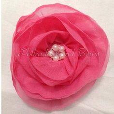 *handmade* pink lace flower