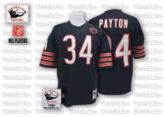 NFL Mitchell And Ness Chicago Bears #34 Walter Payton Blue with Bear Patch Premier Throwback Jersey $89.99