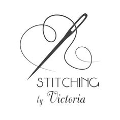 Logo design  Stitching by Victoria by BlueGraphicsBoutique