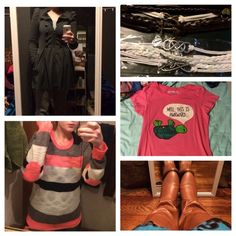 Trade bundle! ✊ For @lucyglr4 1 coat. 1 forever 21 top. 1 tee. 3 bracelets.(Count as 1) light brown boots and tan boots. And 1 Rue top. 1 striped top and 1 hollister top and 1 pair of jeans Accessories